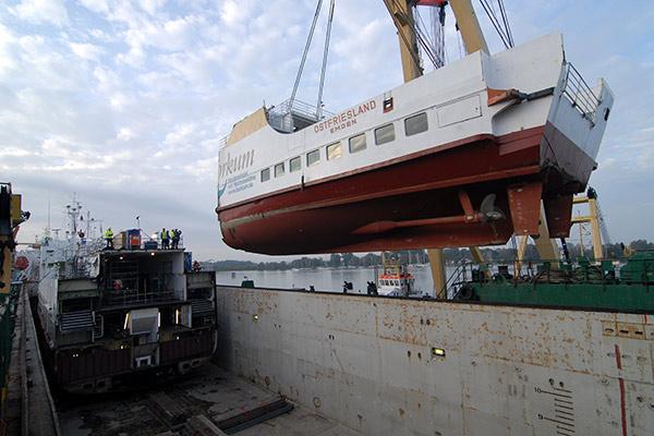 MS Ostfriesland E-Techn. Ausrüstung Umbau Gasantrieb