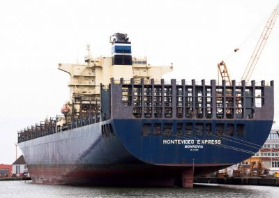 MV Montevideo Express Beseitigung Feuerschaden